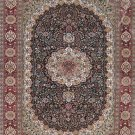 4'x6'Red Floral Hand Knotted Persian Oriental Silk Area Rug/Carpet 7