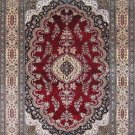 4'x6'Red Kerman Hand Knotted Persian Oriental Silk Area Rug/Carpet 4