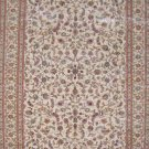 6'x9'Beige Leaf Hand Knotted Turkish Oriental Silk Area Rug/Carpet 1