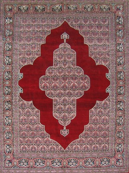 4'x6'Red kerman Hand Knotted Persian Oriental Silk Area Rug/Carpet 19