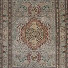 2'x3' Small Beige Qum Hand Knotted Oriental Silk Area Rug/Carpet 10