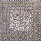 3'x3'Kahaki Small Square Hand Knotted Hereke Oriental Silk Area Rug/Carpet 6