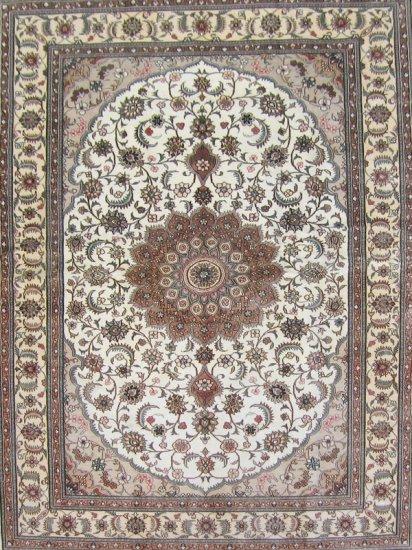 10'x14' Large Hand Knotted Tabriz Oriental Silk Area Rug/Carpet  14