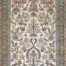 2.5'x4' Peacocks Hand Knotted Hereke Oriental Silk Area Rug/Carpet 1
