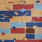 5'*8'Geometric Hand Knotted Modern Tibetan Wool Area Rug/Carpet 10