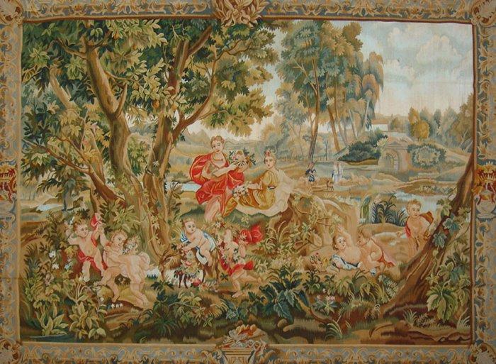 5.1'*7' European Flat Woven Wool Area Rug/Tapestry 3