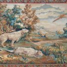 5'*7' Two Dogs and Eagle Flat Woven Wool Area Rug/Tapestry 5