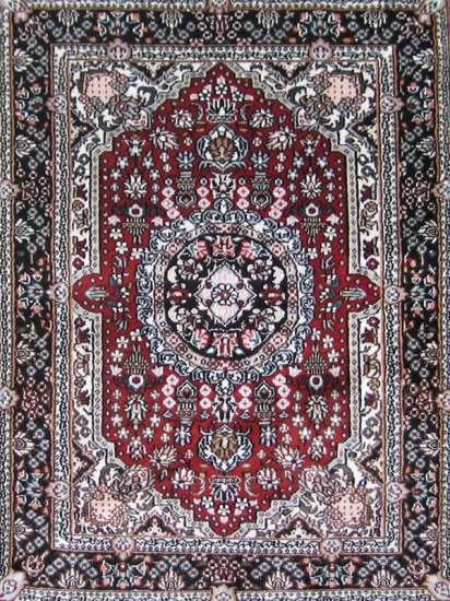 2'*3' Small Red Hand Knotted Persian Oriental Artifical silk Area Rug/Carpet 7