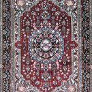 2'*3' Red Small Hand Knotted Oriental Artifical silk Area Rug/Carpet 7