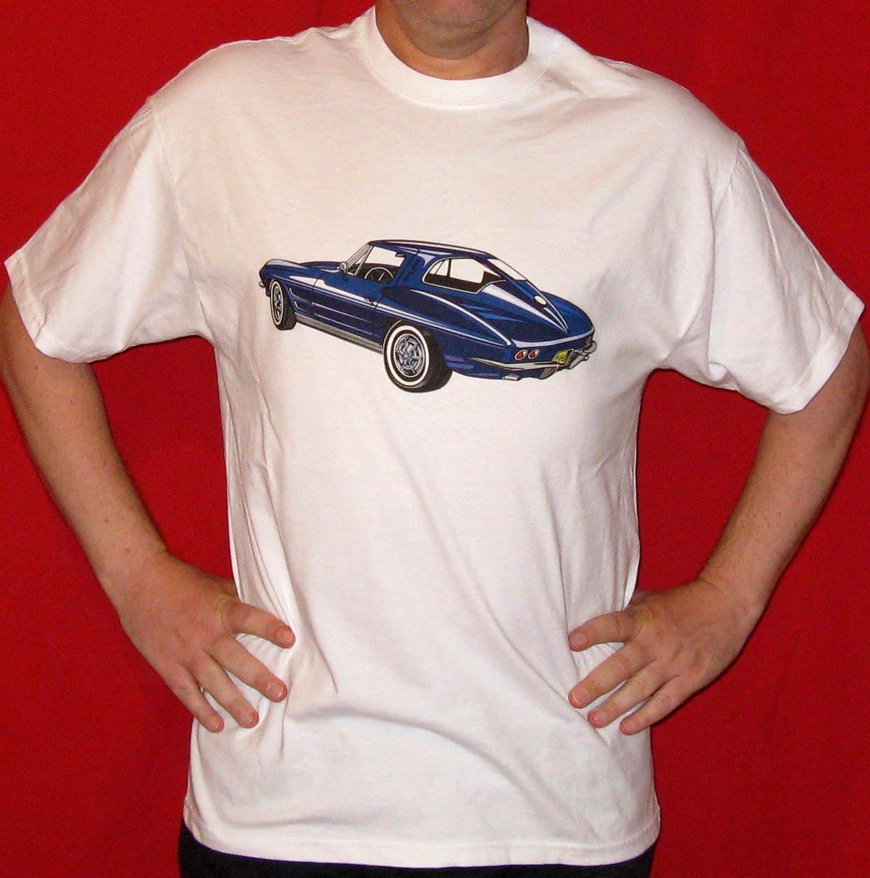 Blue 1963 Split Window Chevrolet Corvette T-Shirt