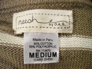 Neesh by Dar Anthropologie Cropped Cardigan Sweater M