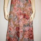 $880 Dries van Noten Romantic Floral Soft Skirt 38