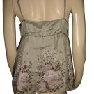 $180 Gold Hawk SOFT Silk Floral Tank Top Shirt M Med