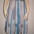 Calvin Klein Grays Blues Cotton Silk  Chic Skirt 2 XS