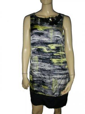 $438 Robert Rodriguez Brushstroke Silk Dress 8 M Medium
