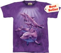 Dolphin Pod T-Shirt by The Mountain M,L,XL