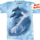 Four Dolphins T-Shirt by The Mountain M,L,XL