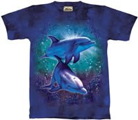 Coral Reef Dolphins T-Shirt by The Mountain M,L,XL