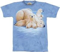 Polar Bears Lounging T-Shirt by The Mountain M,L,XL