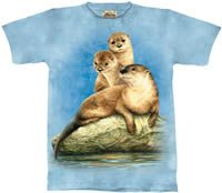 Three Otters T-Shirt by The Mountain M,L,XL