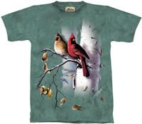 Cardinals & Birch T-Shirt by The Mountain M,L,XL