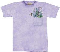 Pocket Bouquet Flower & Hummingbird T-Shirt by The Mountain M,L,XL
