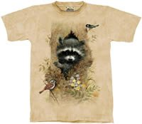 Wee Raccoon T-Shirt by The Mountain M,L,XL