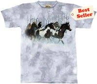 Winter Run Horse T-Shirt by The Mountain M,L,XL