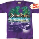Spring Creek Run Horse T-Shirt by The Mountain M,L,XL
