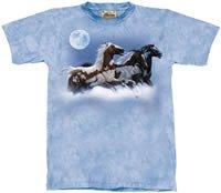 Moon Runner Horse T-Shirt by The Mountain 2XL, 3XL