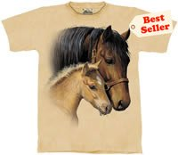 Gentle Touch Horse & Colt T-Shirt by The Mountain 2XL 3XL