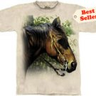 Horse at Fence T-Shirt by The Mountain 2XL 3XL