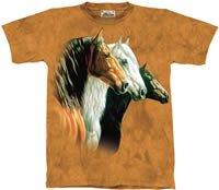 Three Horse Portrait Horse T-Shirt by The Mountain 2XL 3XL