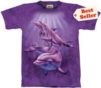 Dolphin Pod T-Shirt by The Mountain 2XL 3XL