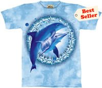 Dolphin Pair Dye T-Shirt by The Mountain 2XL 3XL