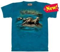 European River Otters T-Shirt by The Mountain 2XL 3XL