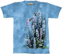Blue Heaven Hummingbirds & Flowers T-Shirt by The Mountain 2XL 3XL