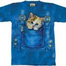 Kitty Overalls Kitten T-Shirt by The Mountain 2XL 3XL