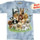 Puppy Collage Puppies T-Shirt by The Mountain 2XL 3XL