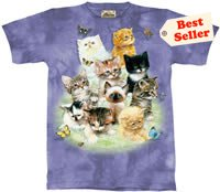 Kitten Collage T-Shirt by The Mountain M L XL