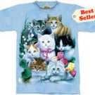 Kitties & Flowers Kitten T-Shirt by The Mountain M L XL