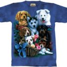 Puppies & Flowers Puppy T-Shirt by The Mountain M L XL