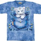 Pocket Tiger Cub Overalls T-Shirt by The Mountain M L XL