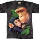 Chimpanzee Mother & Baby T-Shirt by The Mountain M L XL