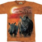 Rhino Mother & Baby T-Shirt by The Mountain M L XL