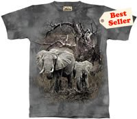 Mother & Baby Elephant T-Shirt by The Mountain M L XL