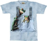 Pocket Frogs Frog T-Shirt by The Mountain M L XL