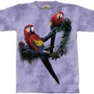 Scarlett Macaws Parrot T-Shirt by The Mountain M L XL