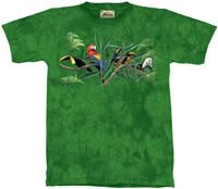 Rainforest Menagerie Zoo & Jungle Animals T-Shirt by The Mountain 2XL 3XL