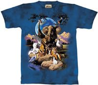 World of Animals Zoo & Safari Animal T-Shirt by The Mountain 2XL 3XL